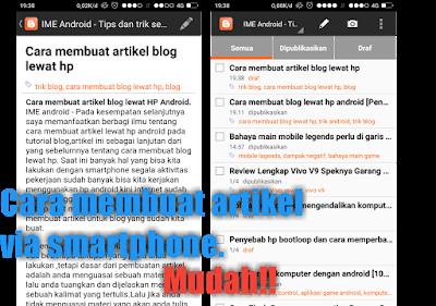 Aplikasi membuat artikel lewat hp