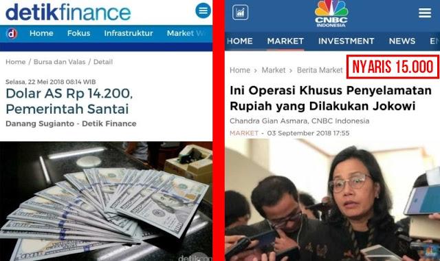 Dulu Santai, Kini Pemerintah Mulai Panik Dolar Nyaris Rp. 15.000