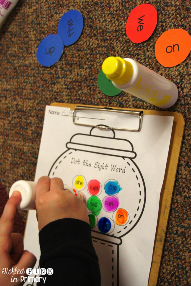 sight word bingo dabber activities