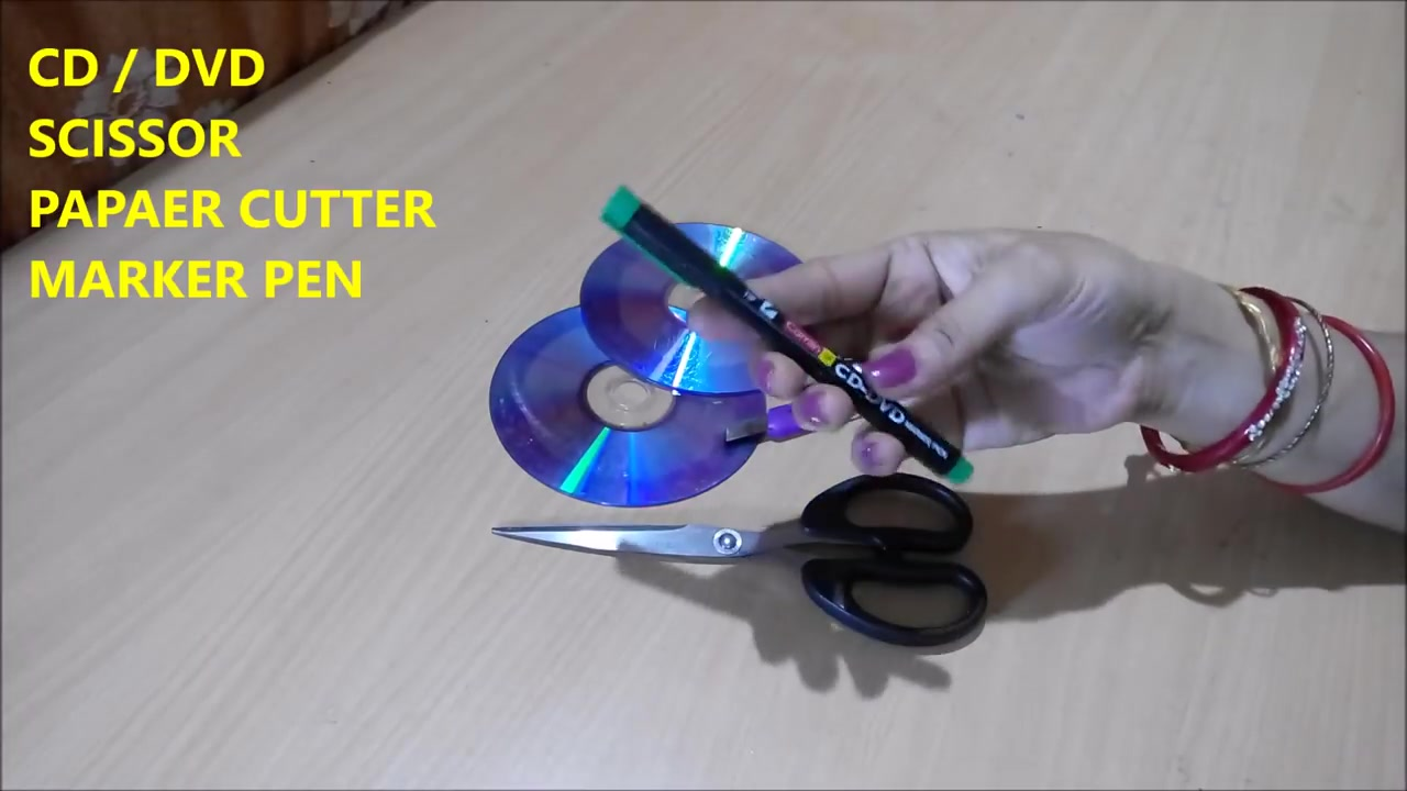 In This Video Tutorial You Will Be Able To Learn How Cut CD DVD Into Different Shapes Easily At Home