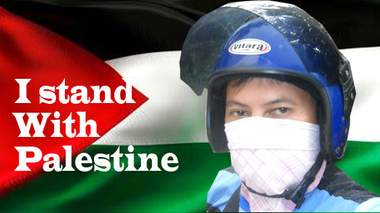 I stand with Palestine in every way.  Design by Asep Haryono