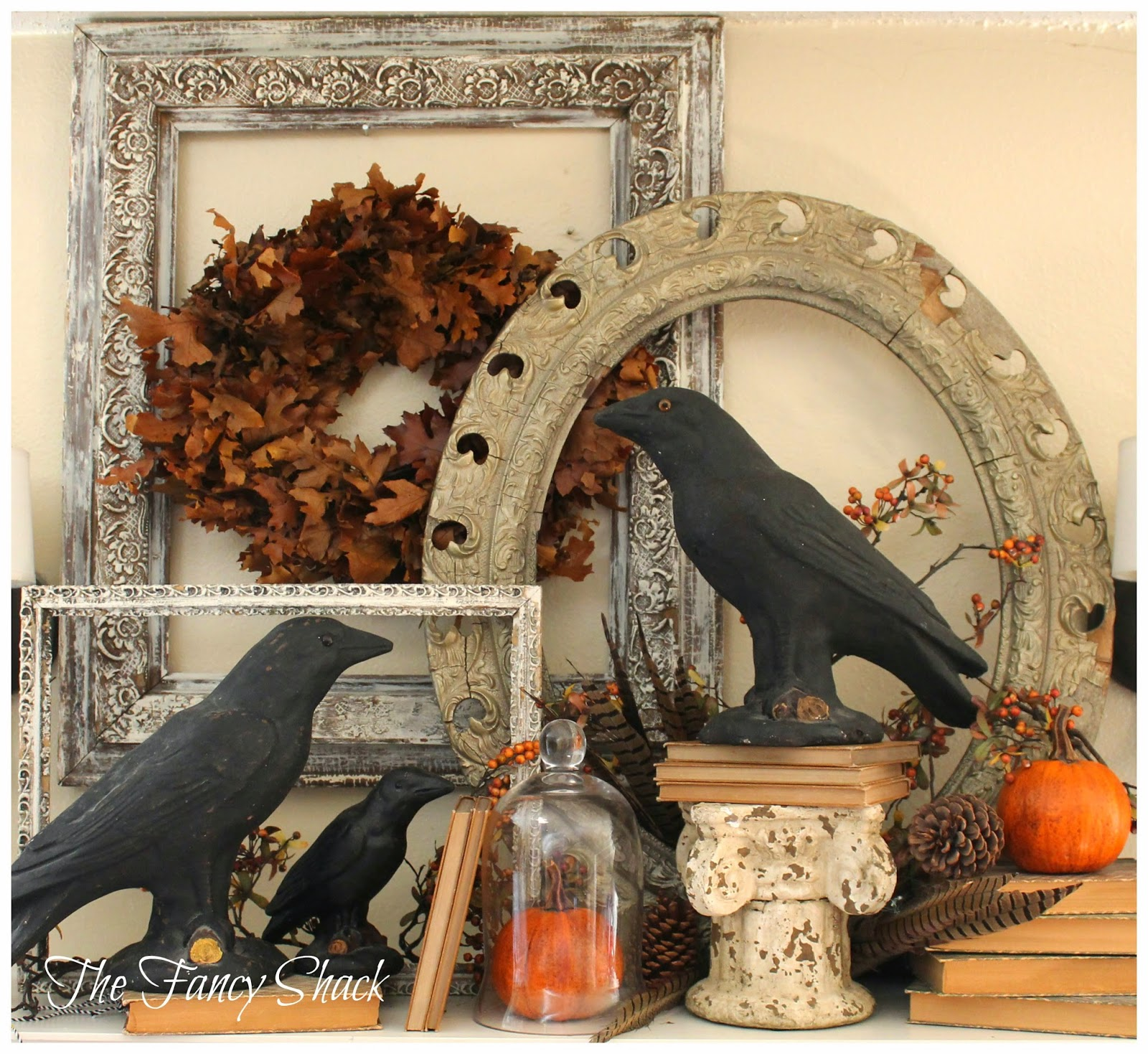 Fall Halloween Mantel The Fancy Shack Treasure Hunt Thursday  From My Front Porch To Yours