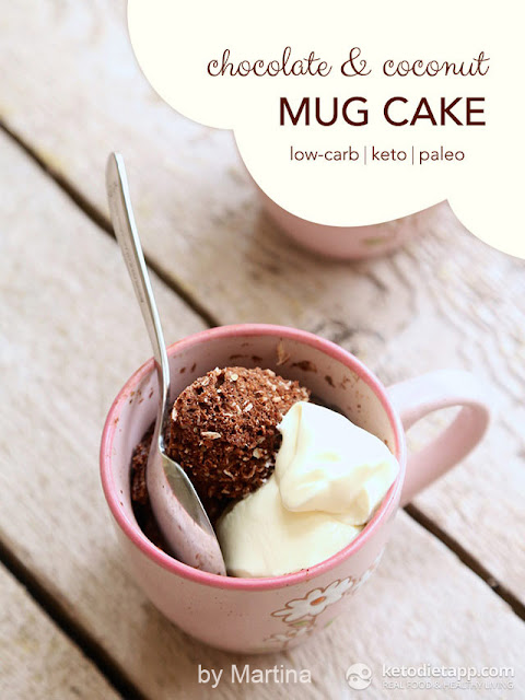 Keto Chocolate & Coconut Mug Cake