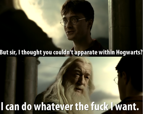 I can do what I want Dumbledore