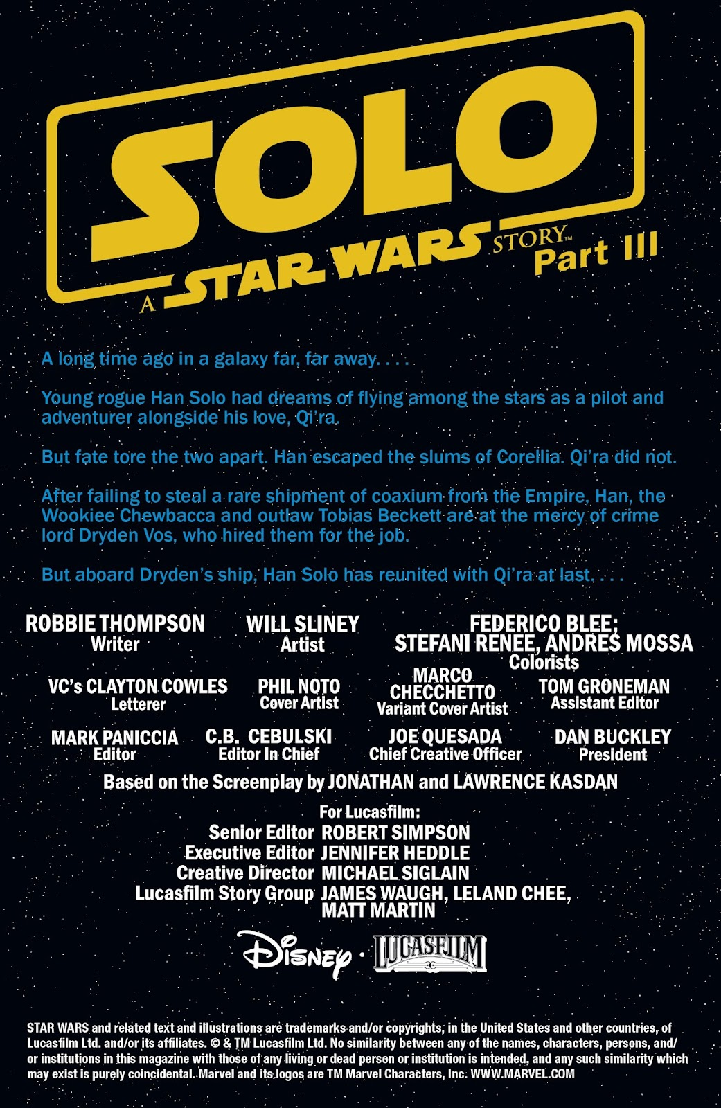 Read online Solo: A Star Wars Story Adaptation comic -  Issue #3 - 2