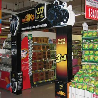 Cổng chào giới thiệu sản phẩm mới tại siêu thị