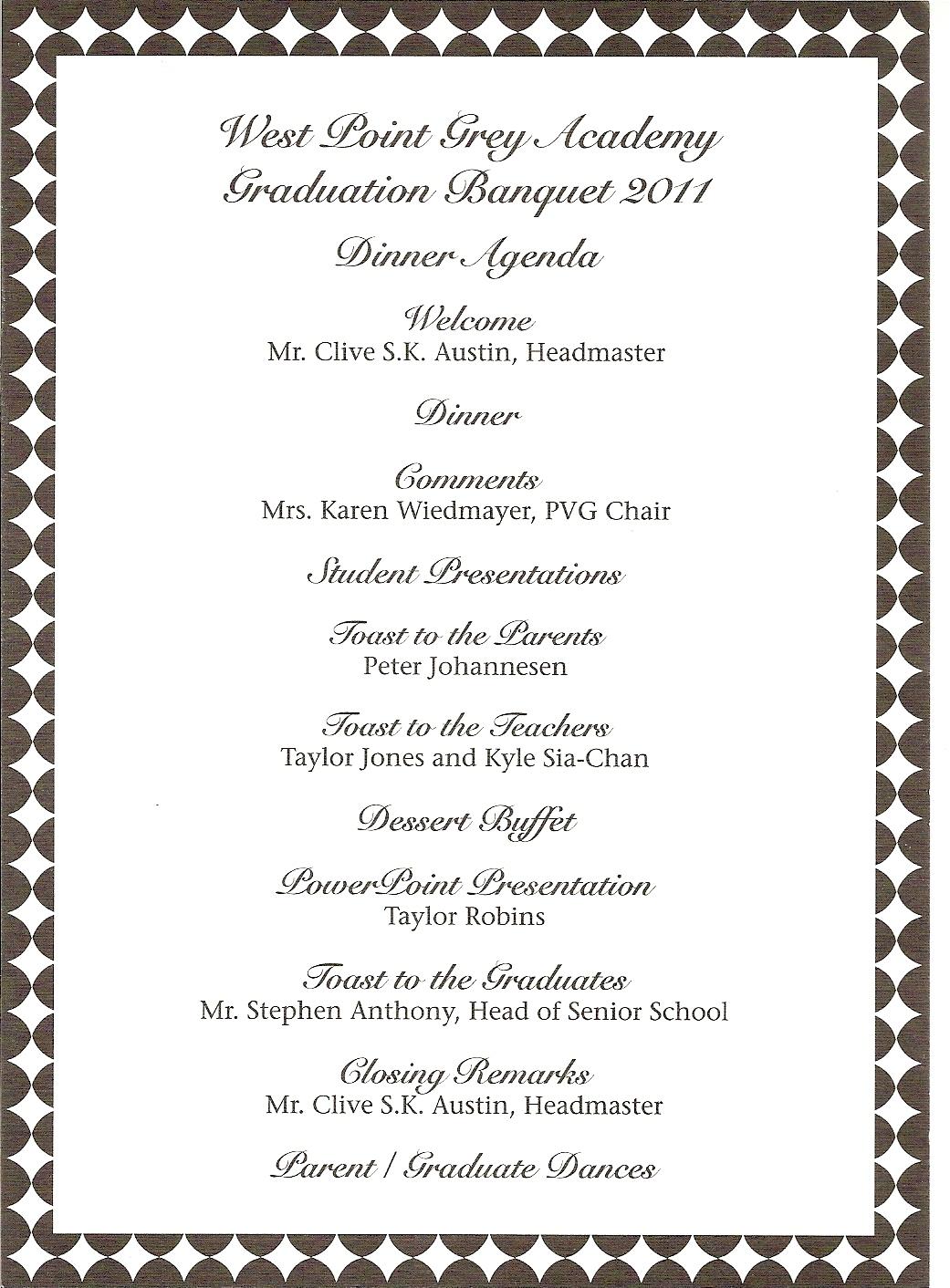 sports banquet program templates