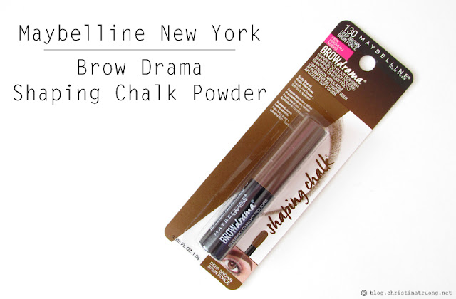 Maybelline New York Brow Drama Shaping Chalk Powder in Deep Brown Review