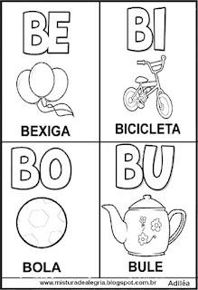 Cartaz das famílias silábicas do B