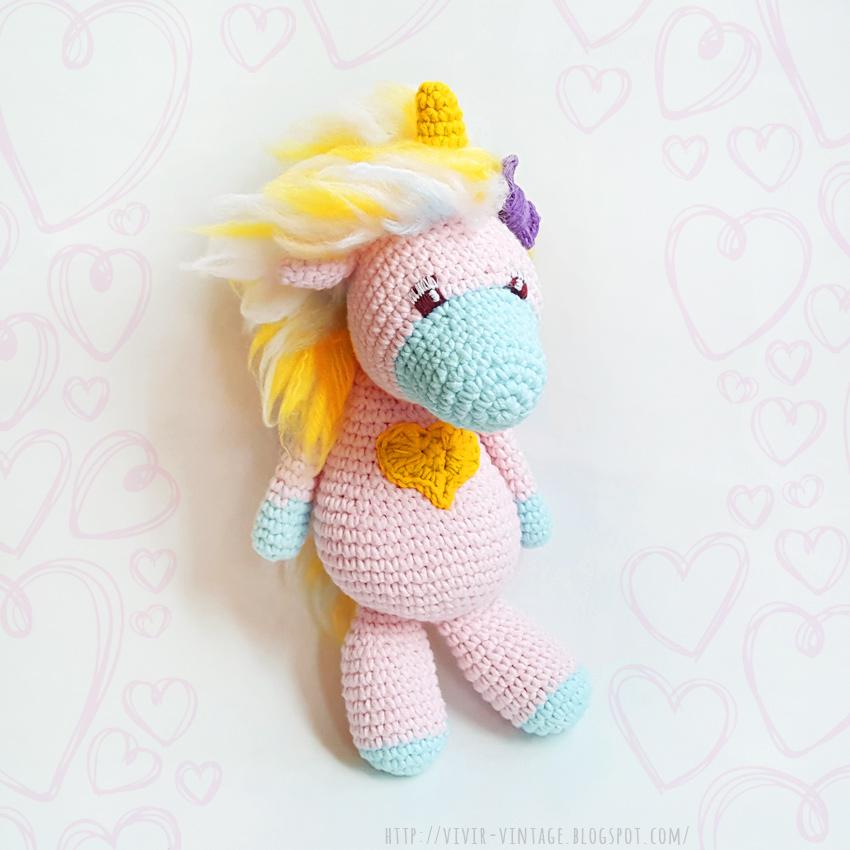 patron gratis amigurumi unicornio