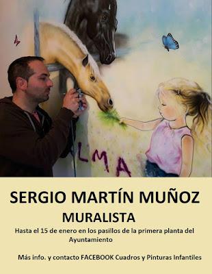 Exposición del muralista Sergio Martín Muñoz