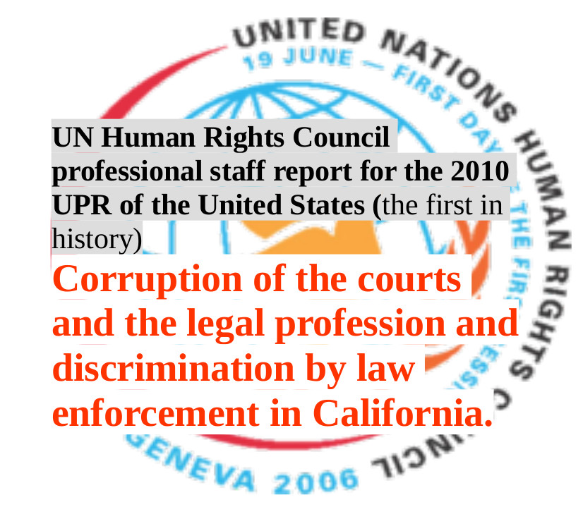 2010 UN Universal Periodic Review (UPR) of the United States, professional staff report