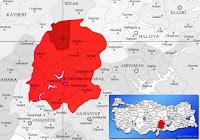 Afşin ilçesinin nerede olduğunu gösteren harita