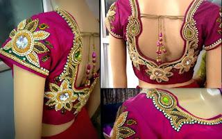 பிளவுஸ் வெட்டும் முறை நவீன தையல் முறை.,Blouse cutting in tamil