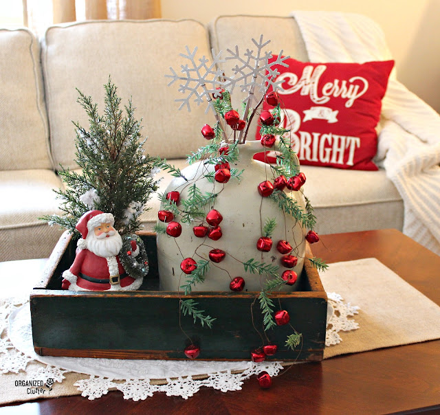Rustic Christmas Crate Centerpiece