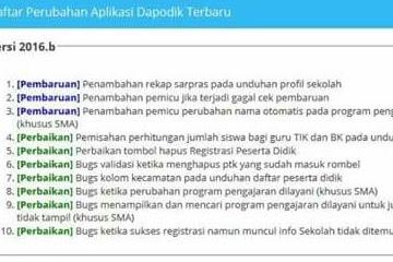 Rilis Aplikasi Dapodik Versi 2016.b