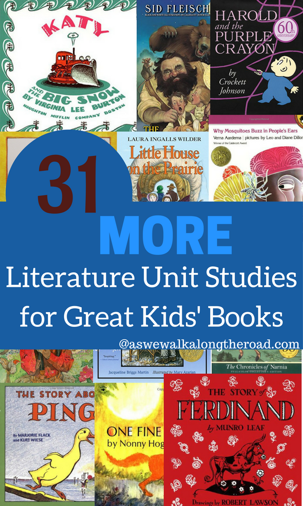 Thirty one literature units for kids books