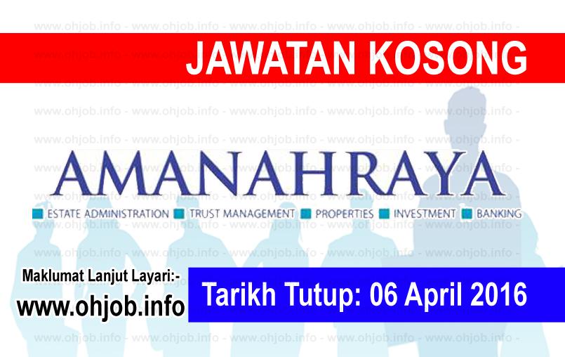 Jawatan Kerja Kosong Amanah Raya Berhad logo www.ohjob.info april 2016