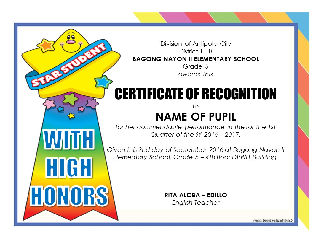 New! Editable Quarterly Awards Certificate Template | DEPED TAMBAYAN ...