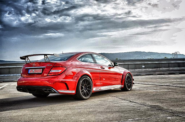 red mercedes