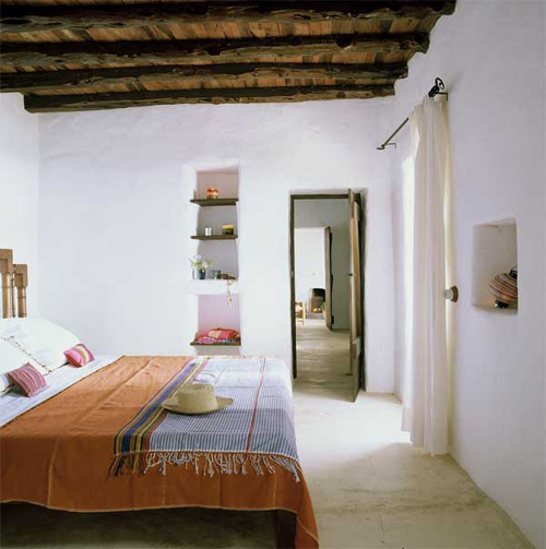Country Style Bedroom Side: Ibiza Travel Mediterranean Lifestyle Decor Open Carefree