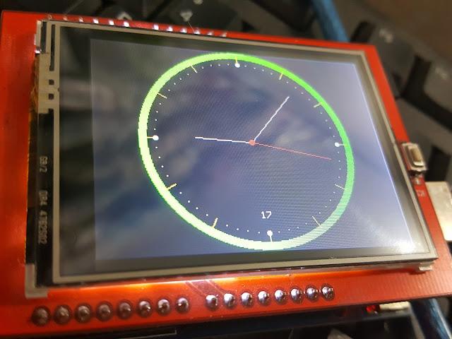 Membuat jam analog dengan arduino uno dan lcd tft