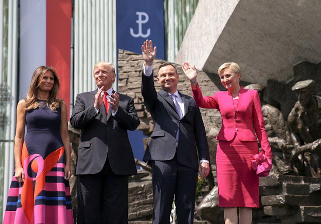 Donald Trump i Andrzej Duda z małżonkami