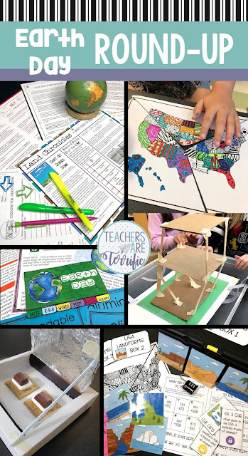 Let's get you ready for Earth Day, or springtime, or any time you are ready to study landforms and the earth. This post includes Escape Rooms, Reading resources, STEM Challenges, and tips for preparing for these events. It's all you need to get started planning for the month of April! (Or whenever you are studying these topics!) #STEM #Elementary