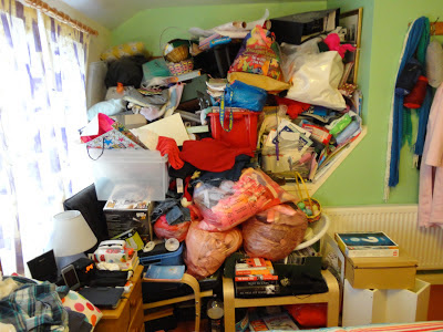 Clutter In My Bedroom - Don't judge me.