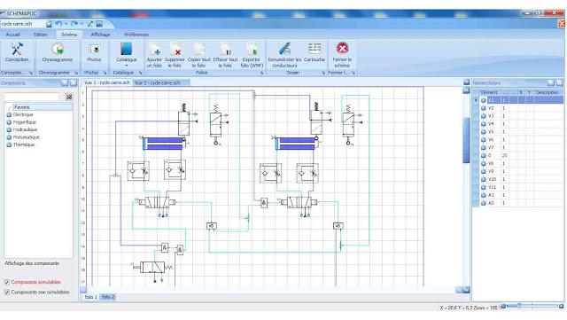 schéma pneumatique  et hydraulique