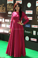 Monal Gajjar in Maroon Gown Stunning Cute Beauty at IIFA Utsavam Awards 2017 075.JPG