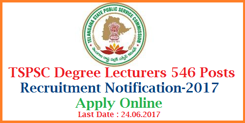 TSPSC 546 Degree College Lecturers Posts Recruitment Vacancies Eligibiity Syllabus Scheme of Examination-Apply Online Telangana Public Service Commission inviting Online Applications from women eligible and intended candidates to the posts of Residential Degree Colleges in Telangana | Vacancies Eligibility Critteria Syllabus for the Prelimnary and Main Recruit Exams | Scheme of Examination for DL Posts Date of Examinations Fee Payment details | How to Apply Online for the Post of Degree Lecturers Notification by Telangana State Public Service Commission  Applications are invited Online from qualified women candidates through the proforma Application to be made available on Commission's WEBSITE (www.tspsc.gov.in) to the post of Degree College Lecturers in Residential Degree Colleges(women). tspsc-dl-degree-lecturers-546-posts-vacancies-eligibility-syllabus-apply-online-hall-tickets-key-results-download