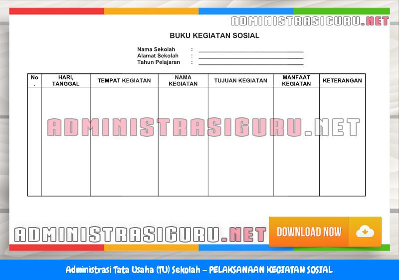 Contoh PELAKSANAAN KEGIATAN SOSIAL Administrasi Tata Usaha Sekolah Terbaru Tahun 2015-2016.docx