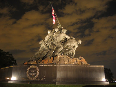 United States Marine Corps War Memorial by Felix de Weldon  (Iwo Jima Memorial)  Arlington County, Virginia,