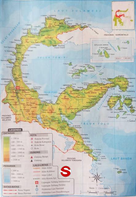 Gambar Peta Atlas Provinsi Sulawesi Tengah