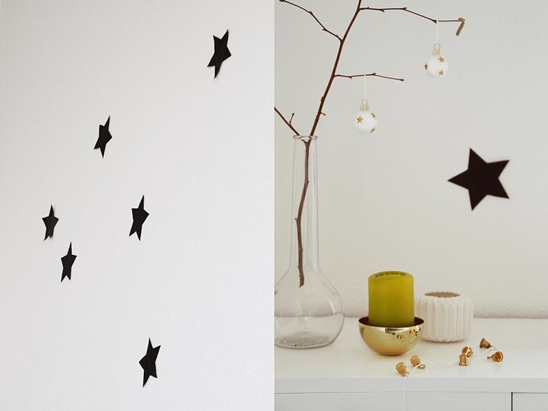 DIY Sterne aus Papier als Wanddeko zu Weihnachten