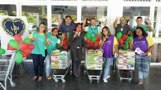 Voluntários da LBV arrecadam alimentos no Dia de Solidariedade em parceria com o Instituto GPA