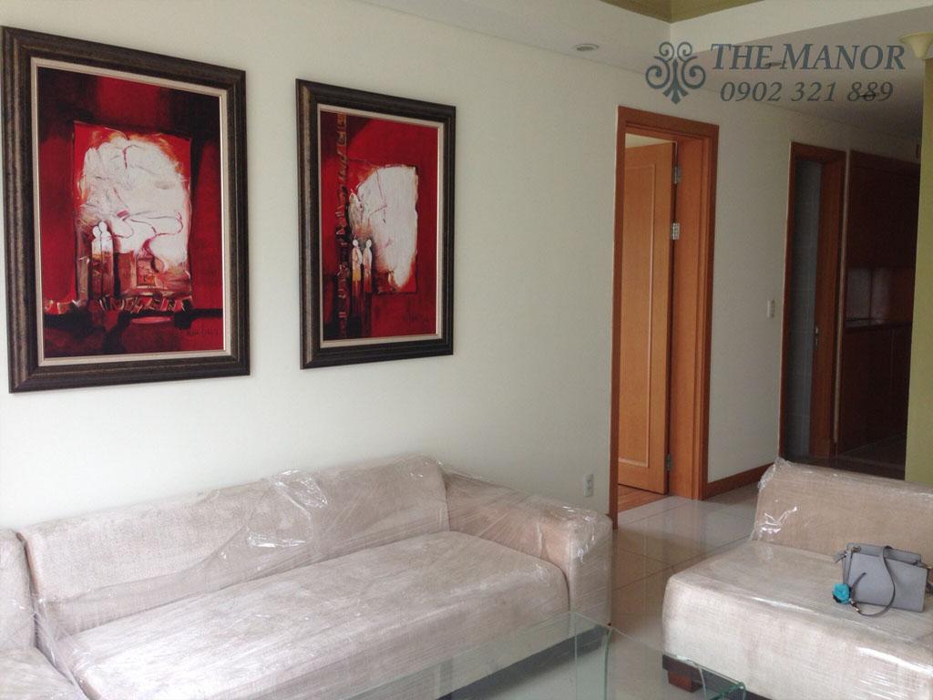 Căn hộ The Manor 100m2 cho thuê block AW tầng 24 full nội thất - hình 2