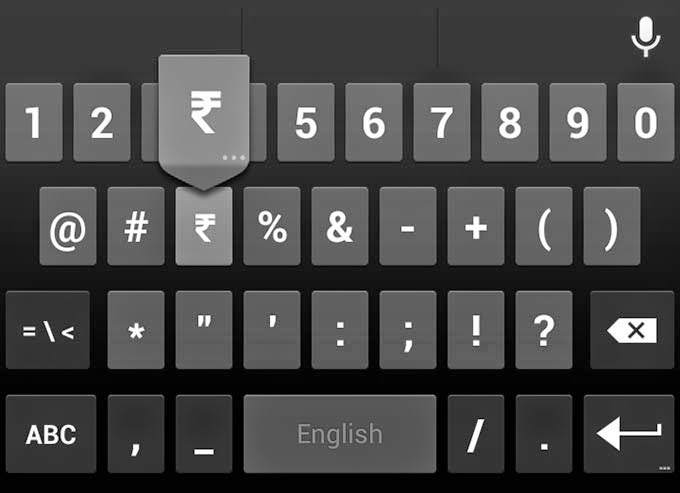 How to Insert Rupee Symbol(₹) on Android? | Buffoon Logic