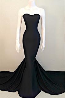 2017 Sexy Mermaid Black Sweetheart 2016 Sleeveless Sweep Train Evening Dress
