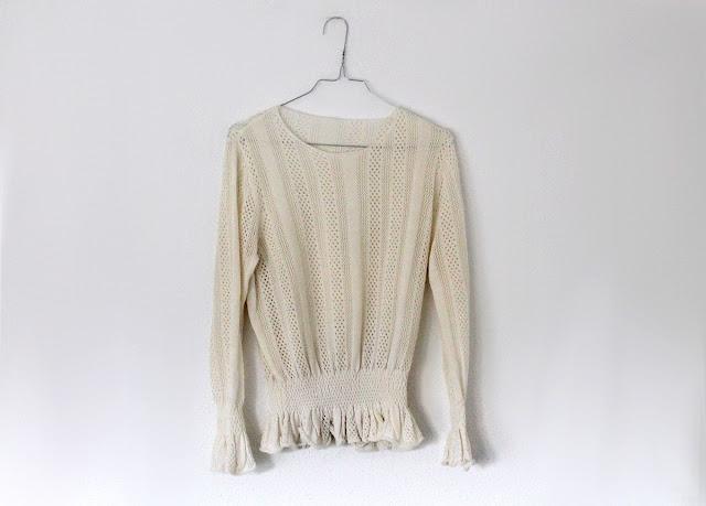 metisu cream sweater