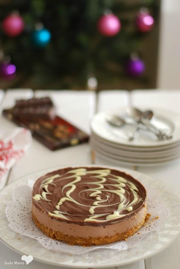 cheesecake de chocolate sin horno