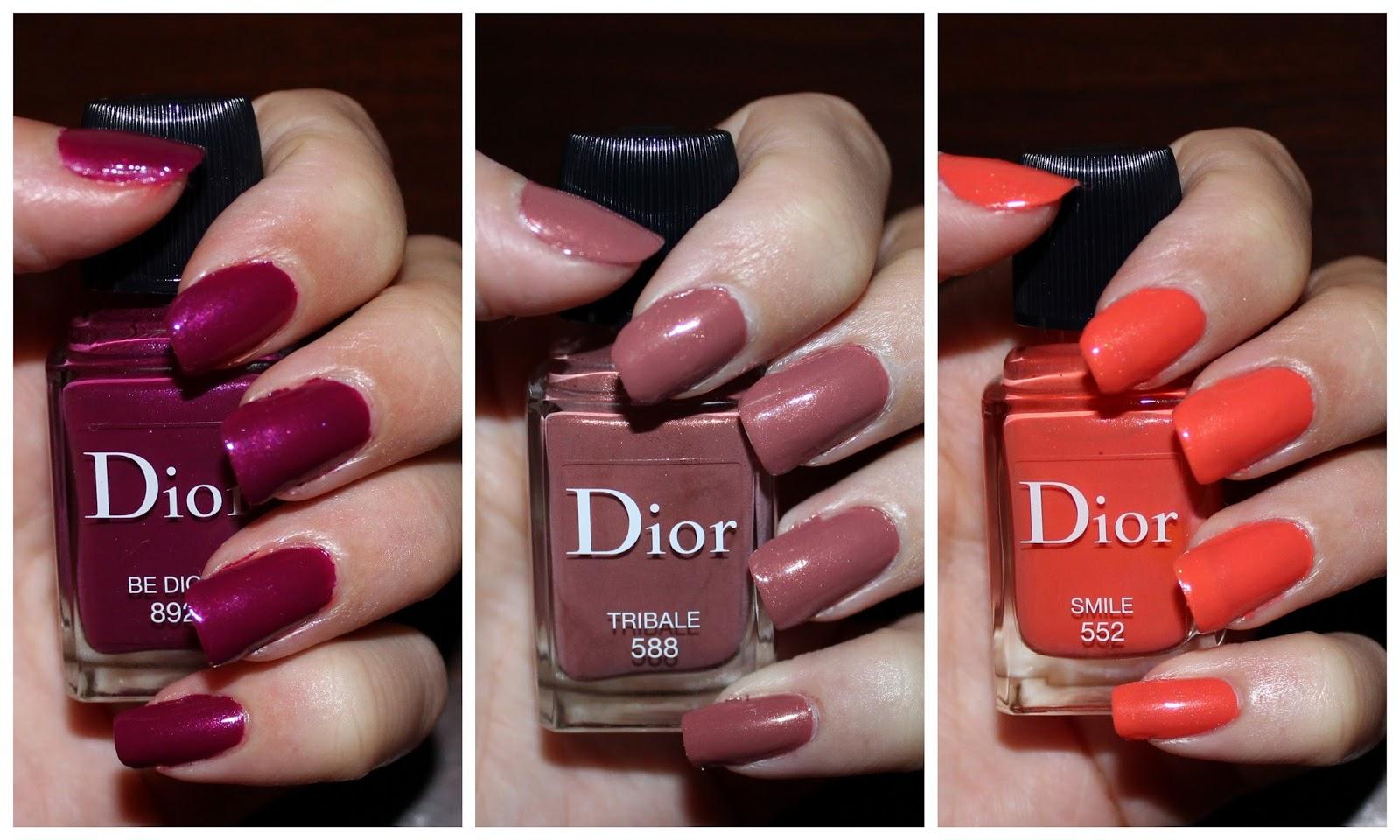 Dior Vernis in 552 Smile, 588 Tribale & 892 Be Dior