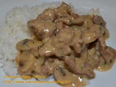 Pinoy Pork Stroganoff with Rice