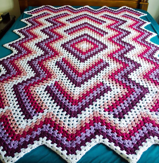 Drop in the pond - blanket free crochet pattern - Crochet Works
