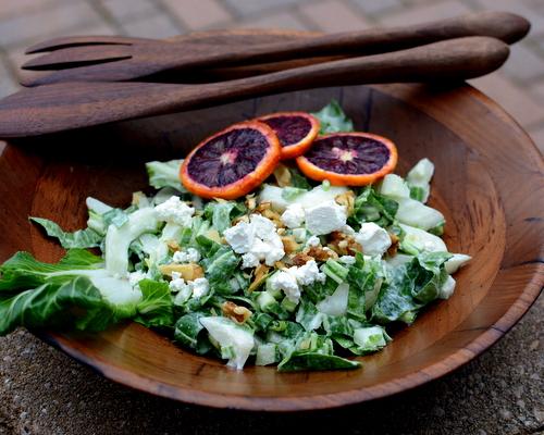 Bok Choy Salad with Homemade Creamy Vinaigrette ♥ AVeggieVenture.com