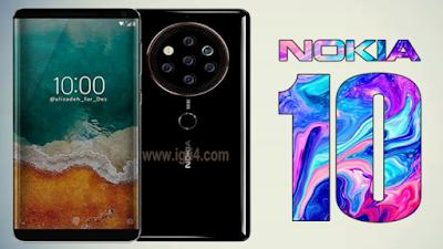 مواصفات  نوكيا Nokia 10 2018 الجديد | خمس كاميرات 41 ميغا + مع عرض ماسحة بصمات الأصابع