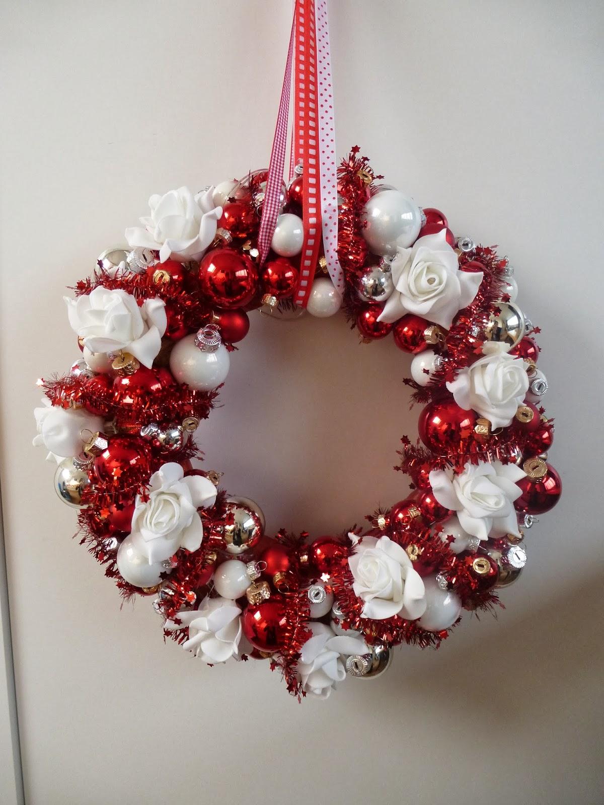 Creakikiheavenly Kerstkrans Rood