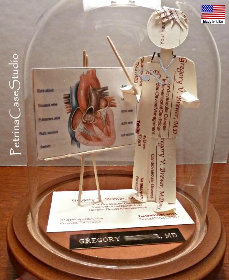 Petrina Case Studio: Cardiologist Business Card Sculpture