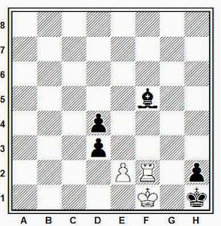 Estudio artístico de ajedrez compuesto por H. Mattison (Deutsches Wochenschach, 1918)